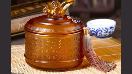 百福琉璃茶叶罐