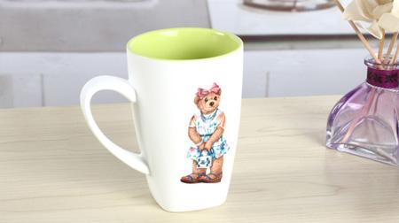维尼熊陶瓷卡通水杯