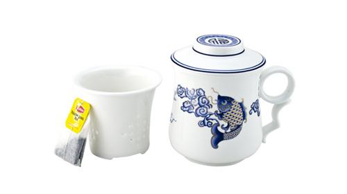知足常乐(金鱼)陶瓷茶具