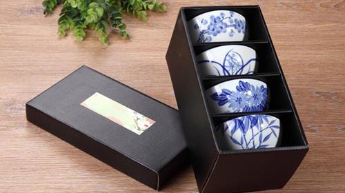 手绘陶瓷碗4只装