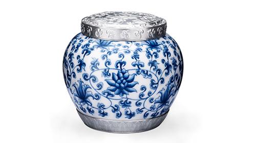 元青花锡罐茶叶罐