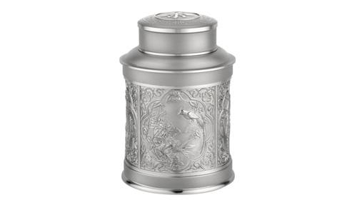 盛世吉祥中号锡罐茶叶罐