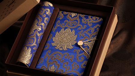 富贵宝花笔记本、鼠标垫二件套