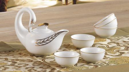 金线天鹅茶具
