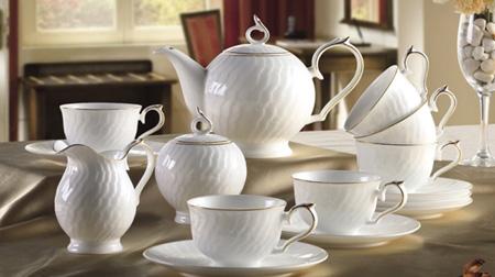 金线珠斯系列15头茶具套装