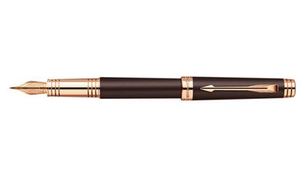 《派克笔》首席巧克力玫瑰金夹墨水笔