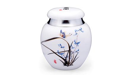 香兰彩蝶泰国纯锡+瓷器