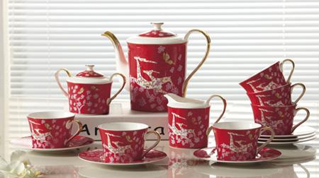 梅花金鹿茶具、咖啡具套装