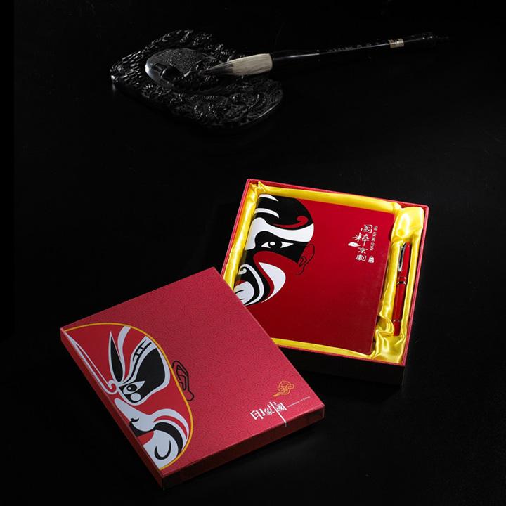 中国脸谱笔记本、笔套装