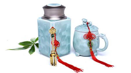 冰裂茶叶罐杯套装