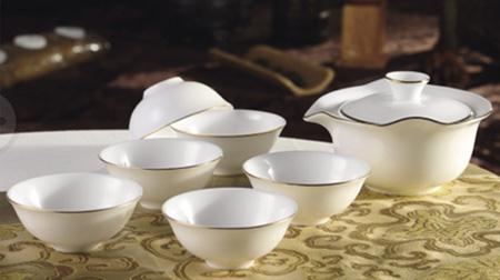 金线荷叶茶具