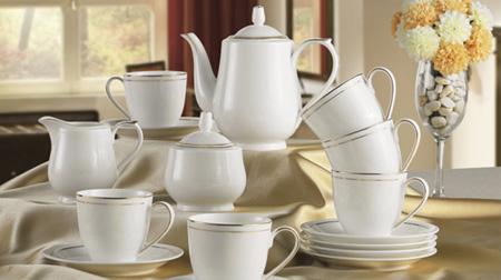 陶瓷金线茶具、咖啡具