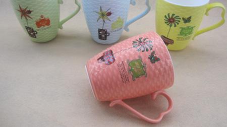 小盆裁系列色釉卷卷杯