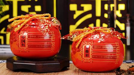 中国红金骏眉茶叶罐