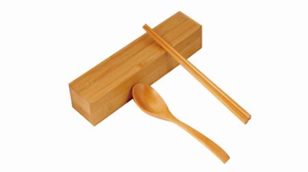 黄檀木木筷木勺竹盒套装