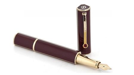 S.T.Dupont法国都彭 莲花红漆钢笔