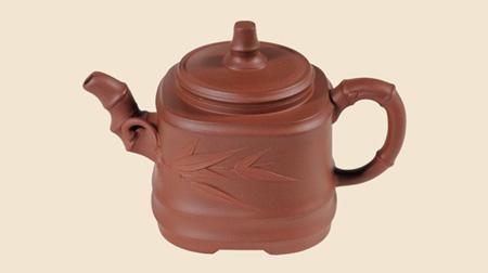 汉典紫砂竹段壶