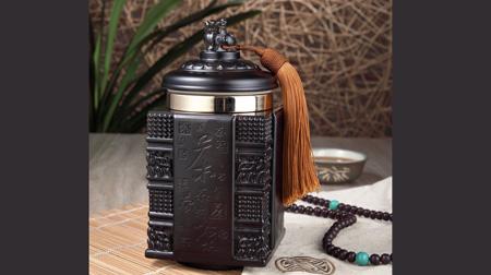 茶到福到琉璃茶叶罐