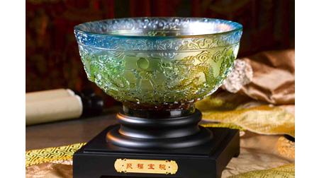 聚福宝碗琉璃摆件
