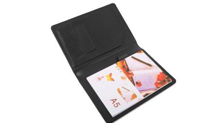 进口牛皮经理夹、商务笔记本
