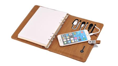商务礼品笔记本移动电源(内置8GU盘)