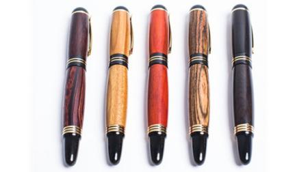 纯手工制作实木签字笔、钢笔 德国笔尖