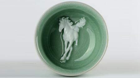 马到成功(将成)陶瓷杯 茶杯