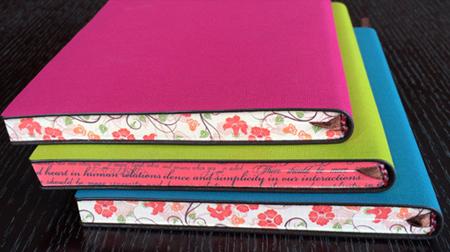 糖果色刷边多彩笔记本