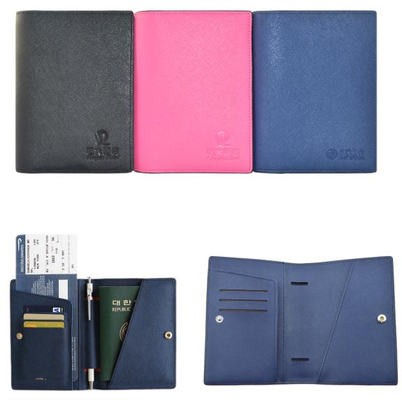 H-009A-1(真皮带扣)护照包