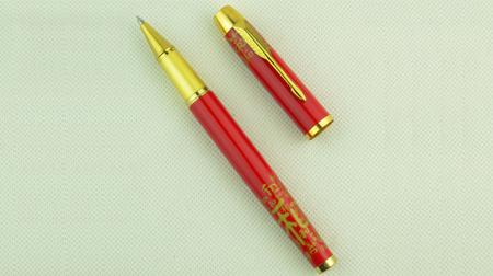 中国红金属水笔