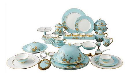 夫人瓷 41头单人套装碗盘碟勺G20陶瓷餐具