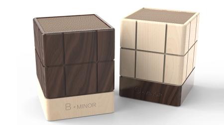 新5D Minor巧克力手机无线蓝牙木质桌面音箱胡桃木对箱精致礼品
