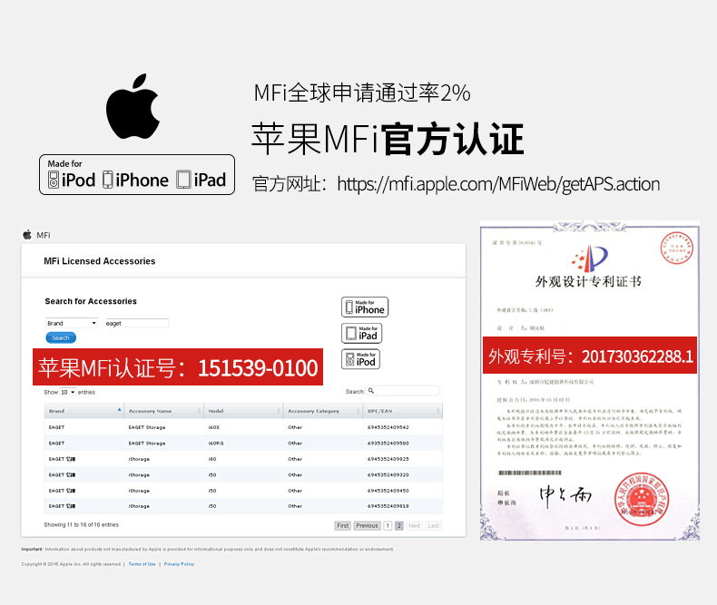 忆捷苹果手机U盘64g