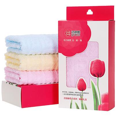 洁丽雅单条装 6415纯棉毛巾礼盒装