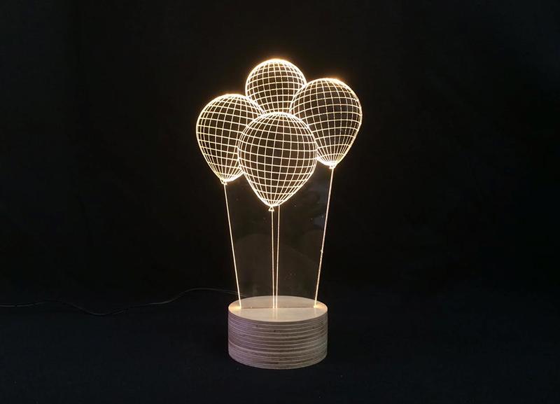 立体装饰台灯 气球