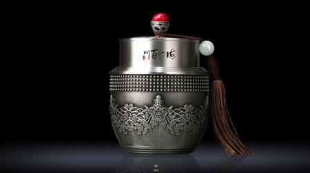 海纳百川 纯锡茶叶罐