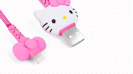 Hello Kitty  数据线Lightning 玲珑系列-粉红100cm