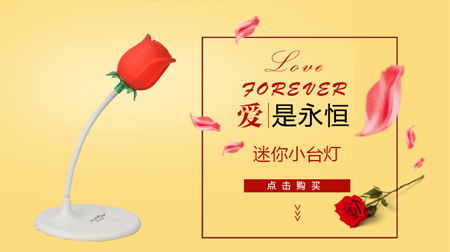永不凋谢的玫瑰 永恒的爱迷你小台灯