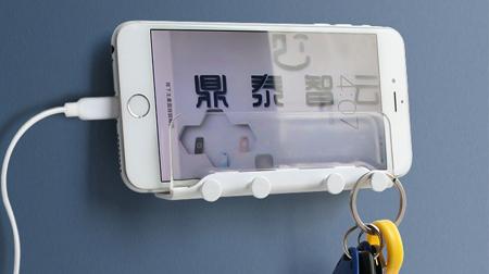 科技蛙-WH4 手机支架 多功能壁挂支架 墙壁收纳